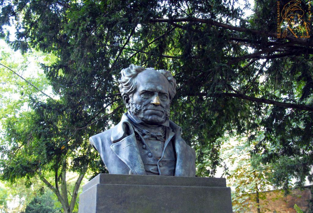 Schopenhauer-monument, Frankfurt am Main. Foto: CC.